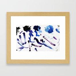Palette Blue Framed Art Print