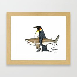 Unusual surf buddies Framed Art Print