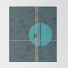 Geometric Abstract Art #4 Throw Blanket