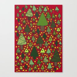 Small Trees Canvas Print