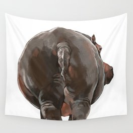 Hippo Butt Wall Tapestry