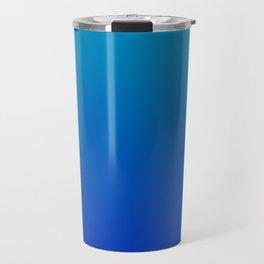 Ombre Hawaiian Ocean Blue Zaffre Gradient Motif Travel Mug