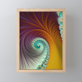 Marmalade Swirl - Fractal Art  Framed Mini Art Print