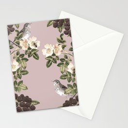 Birds and the Bees Pink Berry Stationery Cards