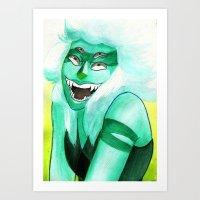 malachite Art Prints featuring Malachite by Moth Studios Art