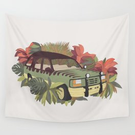 Jurassic Car Wall Tapestry