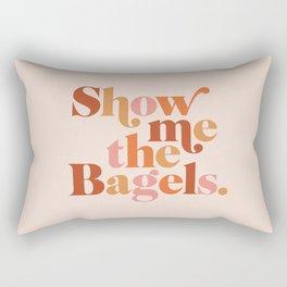 Show Me the Bagels Rectangular Pillow