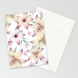 Lilium & Hibiscus pattern Stationery Cards