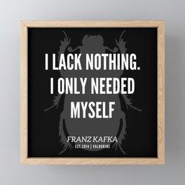 83   |  Franz Kafka Quotes | 190517 Framed Mini Art Print