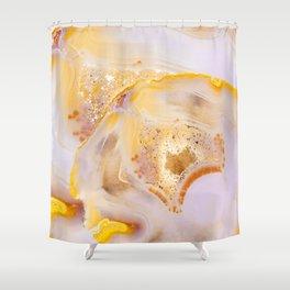 Modern Blush and gold Agate Shower Curtain