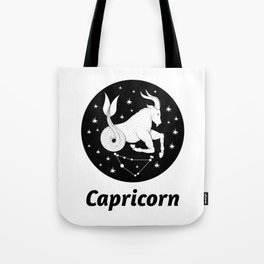 Capricorn Zodiac Sign Tote Bag