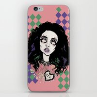 charli xcx iPhone & iPod Skins featuring Nuclear Lover -Charli XCX by Julio César