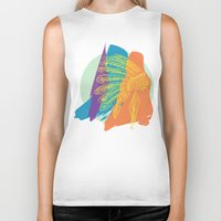 headdress Biker Tanks featuring Headdress  by kpatron