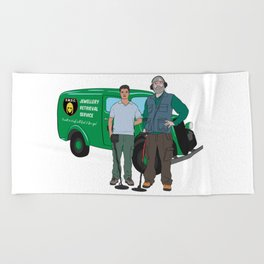 Russell & Hugh Jewellery Retrieval Service - DMDC - Detectorists Beach Towel