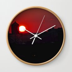 Fading Sun Wall Clock