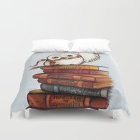 hedwig Duvet Covers featuring Hedwig by Sam Skyler