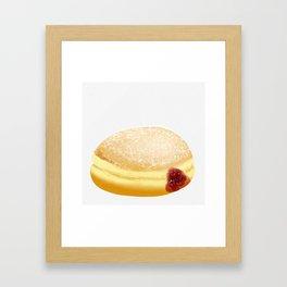 Jelly Donut Framed Art Print
