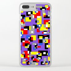 Squares and Rectangles Clear iPhone Case