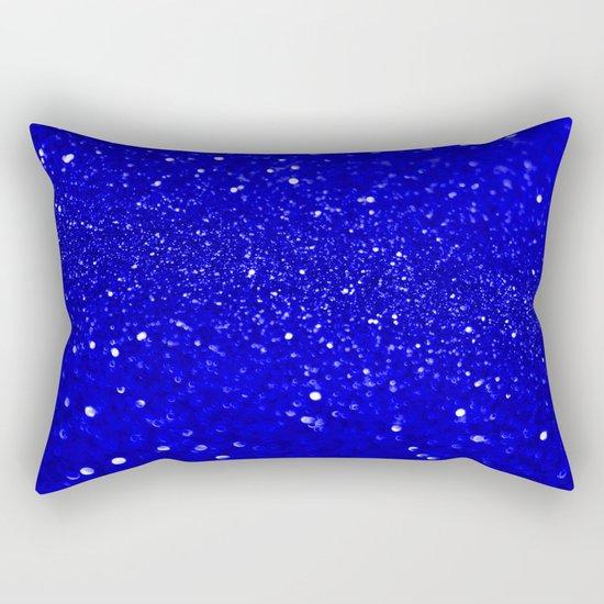 Bright Blue Glitter Rectangular Pillow