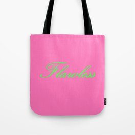 Flawless Pink & Green Tote Bag