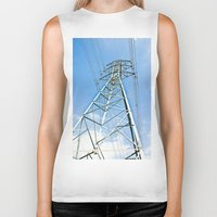 the wire Biker Tanks featuring High Wire by Kim Ramage