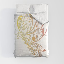 Golden Butterfly Tribal Tattoo Comforters
