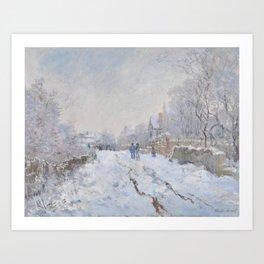 Snow Scene at Argenteuil by Claude Monet Art Print