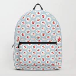 Shabby Chic Florals on Blue Backpack