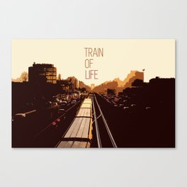 The train of life Canvas Print