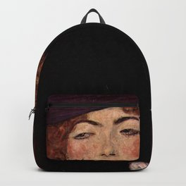 "Gustav Klimt ""Lady with Hat and Feather Boa"" Backpack"