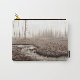 Yellowstone National Park- Foggy morning at Tangled Creek Carry-All Pouch