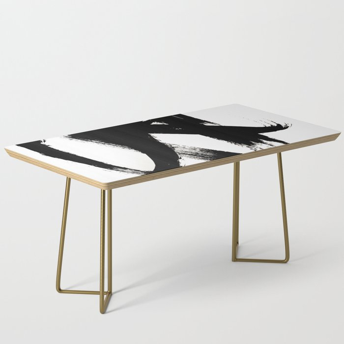 Brushstroke 2 - simple black and white Coffee Table