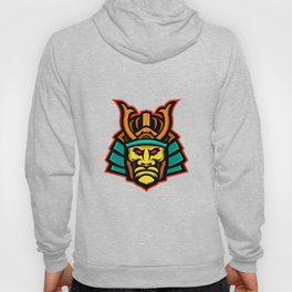 Samurai Warrior Head Mascot Hoody