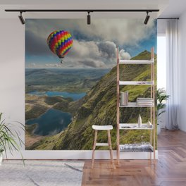 Snowdon Hot Air Balloon Wall Mural