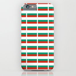 flag of bulgaria -bulgarian, България,български,slav,cyrillic,Sofia,bulgaria iPhone Case