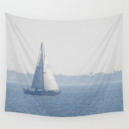 Dreamy Sailboat Wall Tapestry