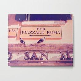 Italian Sign In Venice Fine Art Print Metal Print