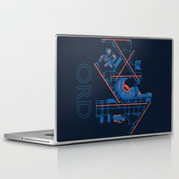 60s Laptop & iPad Skins featuring O'Hare (ORD) - 60s by Kyle Rodgers