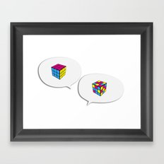 Rubik InQuadri Framed Art Print