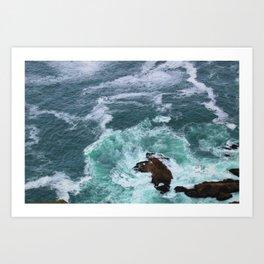 Churning Waves at Point Reyes Art Print
