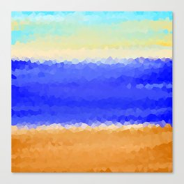Crystallized Beach Day. Canvas Print