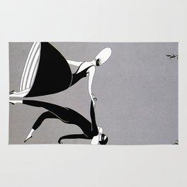 """Art Deco Design """"Pas de Deux"""" by Erté Rug"""