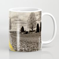 road Mugs featuring Road by Color and Patterns