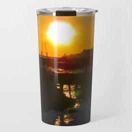 February Sunset at Bug Light (6) Travel Mug