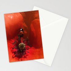 Ladybug Poppy Photography Stationery Cards