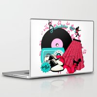 rock n roll Laptop & iPad Skins featuring Rockabilly Rock n Roll by BURPdesigns