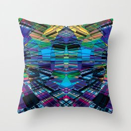 Cyber dimension Throw Pillow