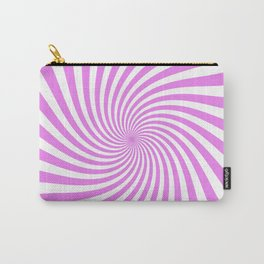 Swirl (Violet/White) Carry-All Pouch