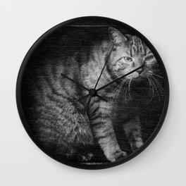 Fergus The Indoor Cat  Wall Clock