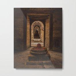 Exploring Pashupatinath Temple in Kathmandu City, Nepal Metal Print
